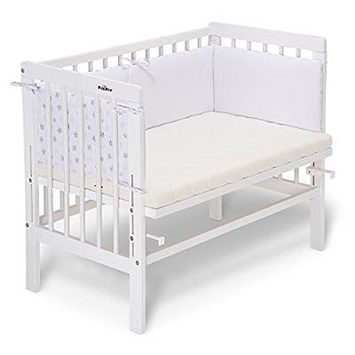 fabimax cama auxiliar Basic Color Blanco, Incluye Colchón y protector de cuna