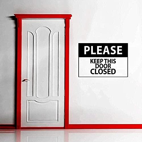 Vinilo adhesivo de pared por favor mantenga este letrero de puerta cerrada en la decoración de la oficina con el letrero 73X57Cm