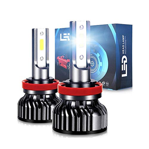Oppulite H11 (H8, H9) Led Bombillas Faros para Coches,12000LM 70W Luces Led Coche,12V/36V 6500K Blanco, 2 Lámparas,Conversión Led