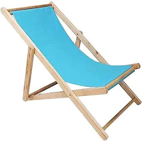 Lightweight Traditional Folding Beach/Garden Wooden Deck Chair Seaside Lounger OutdoorCanvas Folding Chair Recliner Office Load 140kg