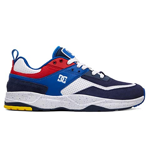DC Men's E.TRIBEKA SE Skate Shoe, Black/Blue/red, 12 M US