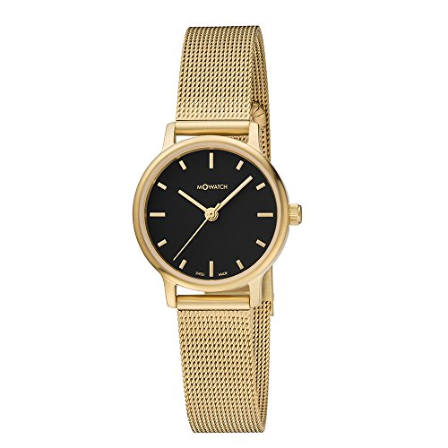 M WATCH Swiss Made Timeless Elegance orologio da donna, Quadrante nero con...