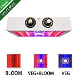 YMXGLT 1100W Perilla de Control Dual LED Planta Espectro de la lámpara del Crecimiento Vegetal mazorca Completa Luz de Relleno,1pack