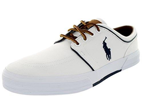 Polo Ralph Lauren Mens Faxon Low Vaughn White Sneaker - 8.5