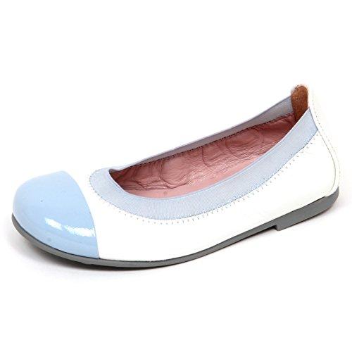 Pretty Ballerinas E1908 Ballerina Bimba Bianco/Azzurro Scarpe Shoe Kid Girl [26]