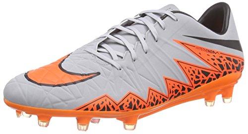 Nike Herren Hypervenom Phatal II FG Fußballschuhe, Mehrfarbig (Wolf Grey/Total Orange/Black/Black), 42