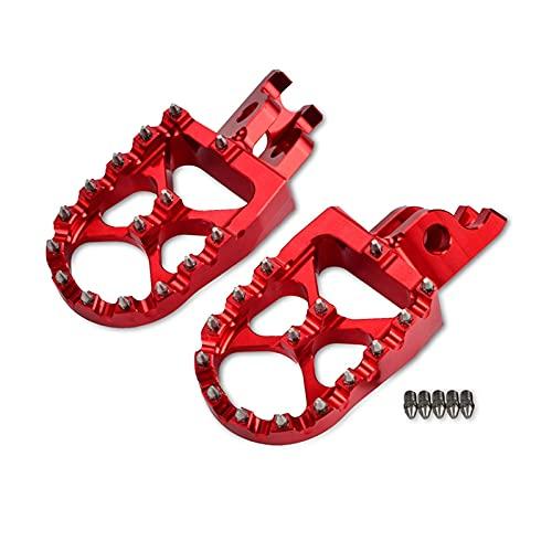 XIEZI Bicicleta Ciclismo Pedales de Bicicleta Reposapiés de Motocicleta Reposapiés Reposapiés Reposapiés de 57 mm Reposapiés de Pedal Reposapiés (Color: Rojo)