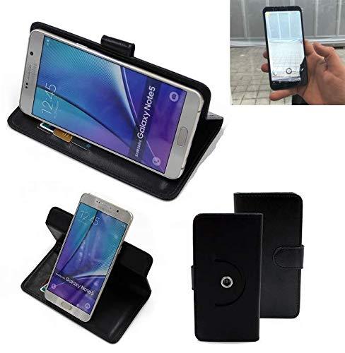 K-S-Trade® Handy Hülle Für Energizer Powermax P600S Flipcase Smartphone Cover Handy Schutz Bookstyle Schwarz (1x)