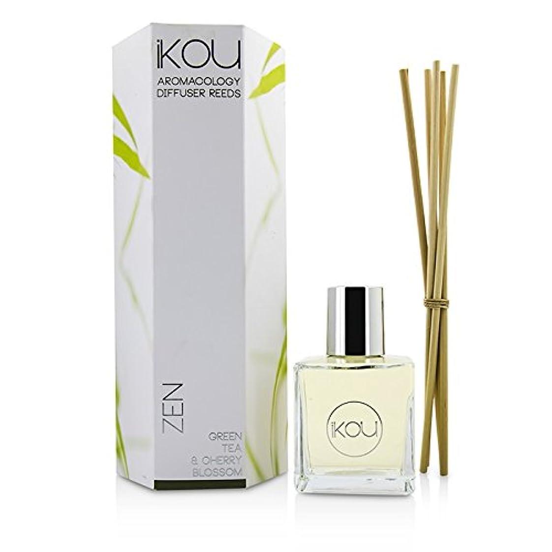 比喩吸収剤収束iKOU アロマコロジー ディフューザーリード - ゼン (グリーンティー&チェリーブロッサム - 9か月分) -並行輸入品