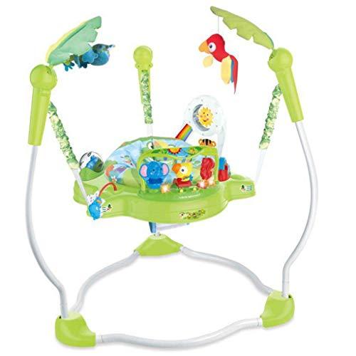 Glzcyoo Chaises Hautes Baby Einstein Journey of Discovery Jumper Centre d'activité avec des mélodies de lumières, Jouets éducatifs for la Petite enfance, Chaise bébé Qui rebondit A+ (Color : B)