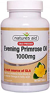 Natures Aid Evening Primrose Oil 1000mg (Cold Pressed) 90 Softgels - 6 Pack