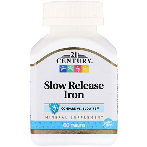 21st Century Slow Release Iron Tablets, 60 Count PACK OF 2 - Packaging May Vary