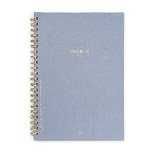 DesignWorks Ink Textured Paper Twin Wire Bound Notebook No. 1, Neptune Blue