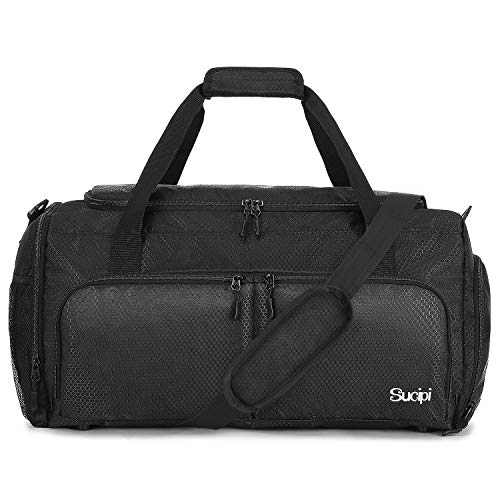 Sucipi Travel Duffel Bag for Men and Women Small Gym Bags with Shoe Compartment and Wet Pocket Lightweight Weekend Bag Water Resistant