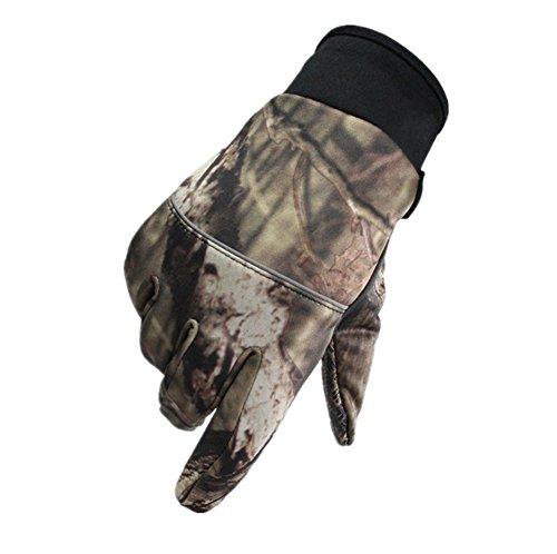 Qiu Ping Herren und Damen Reithandschuhe Camouflage Outdoor rutschfeste Warm Fleece Handschuhe, camouflage, M