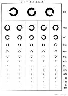 3m視力表+測定用メガネセット
