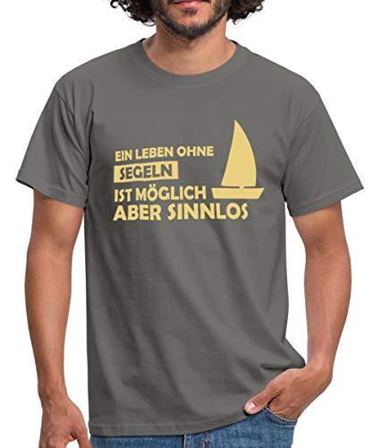 Leben Ohne Segeln Möglich Aber Sinnlos Männer T-Shirt, M, Graphite