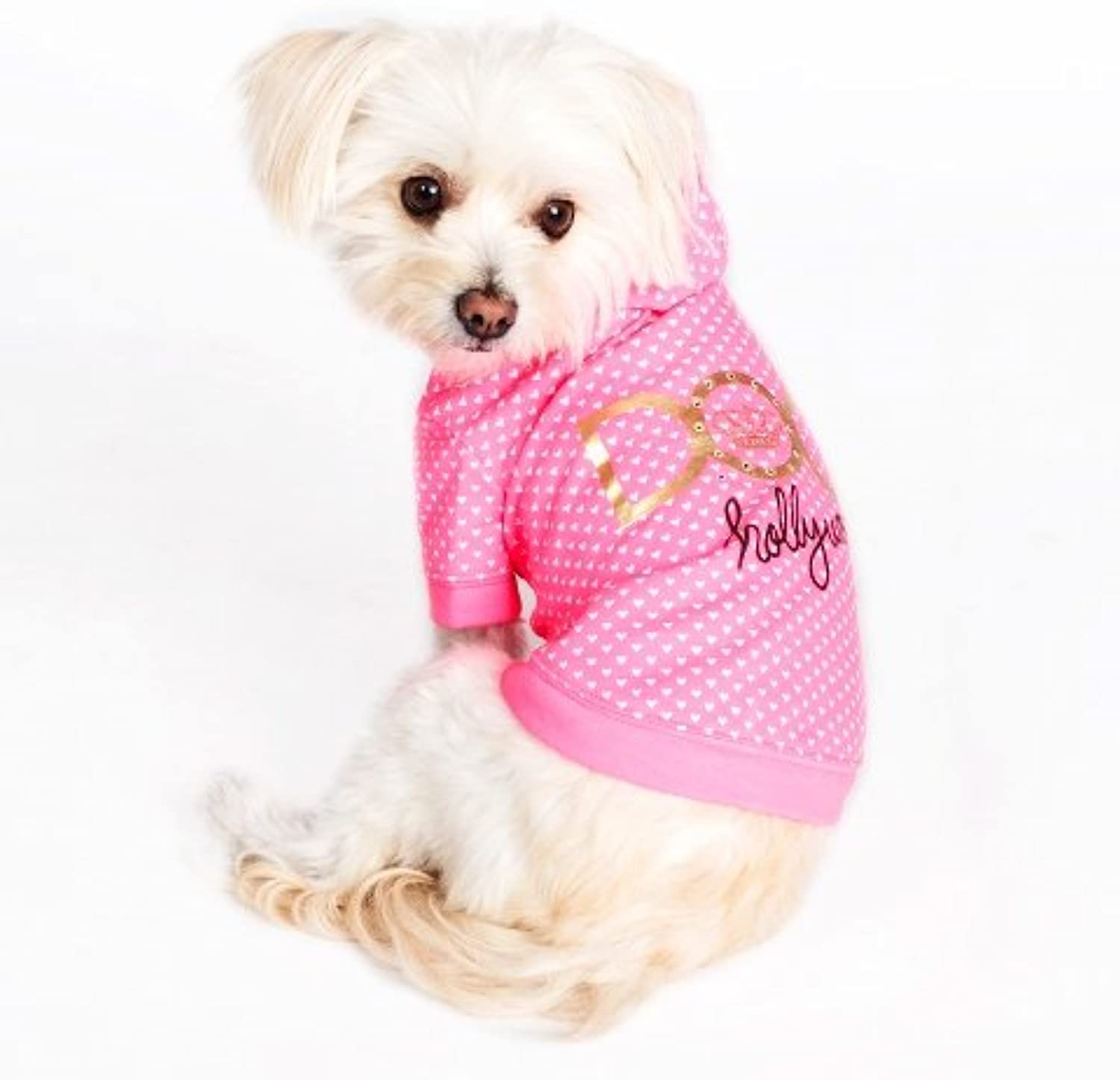 Dogs of Glamour Hollywood Hoodie, Large, Pink