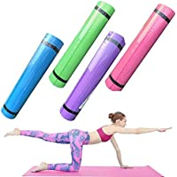 Cheekbonny Colchoneta de Yoga, colchoneta de Ejercicios, Alfombrilla de Entrenamiento Duradera Antideslizante, Cojín extralargo para Yoga, Pilates, Gimnasio 173 * 60 * 0.6cm, Verde