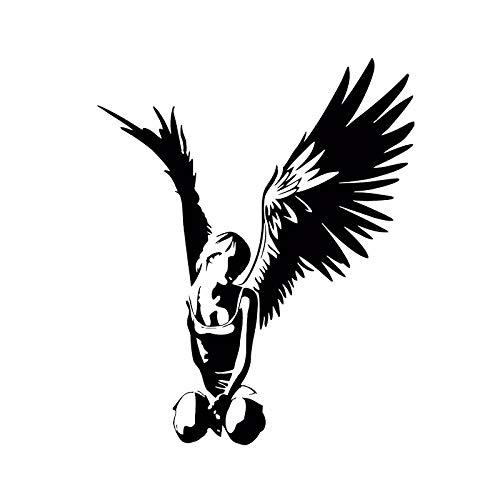 Banksy estilo hermoso elegante alas de Ángel volar chica Sexy coche pegatina vinilo pared pegatina chica dormitorio decoración del hogar Mural cartel