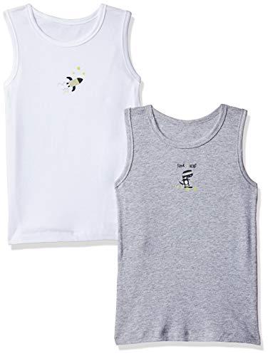 Mothercare Mothercare Unterhemden (2er-Pack) - Unterwäsche für Babys - Unterzieh-Tops für Kleinkinder - weiß/grau