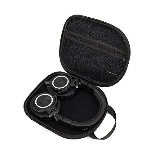 Aproca Duro Viajes Funda Bolso Caso para Audio-Technica ATH-M30X M40X M50x M70X Auriculares de Diadema Cerrados (Black-Promotion)