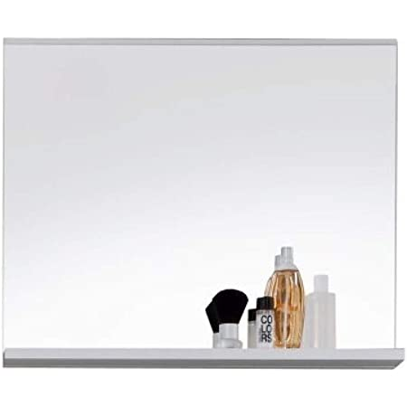 trendteam smart living 1280-401-01 Miroir Murale Meuble Salle de Bain Mezzo en blanc ultrabrillant LxHxP 60x 50 x 10 cm, Métal