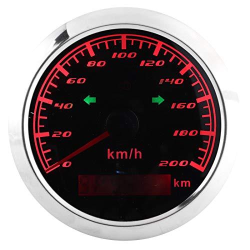 Velocímetro GPS IP67 200KM/H 0‑999999KM Medidor multifunción antiniebla del odómetro LCD para automóviles, motocicletas, barcos 9‑32V