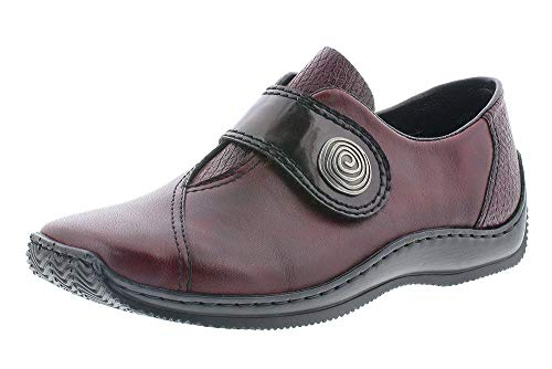 Rieker Cresent Womens Casual Shoes 4 UK Bordo Red
