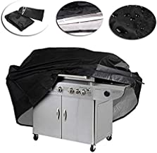 xhope Heavy Duty Waterproof Barbecue Grill Dust Protector Polyester Rain Cover Gas Grill Cover Case for Outdoor, Garden Patio Grill XXXXS/XXXS/XXS/XS/S/M/L/XL (XXXXS)
