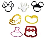 YNGLLC Mickey Mouse & Minnie Mouse Character Cookie Cutter Fondant Tool USA PR577