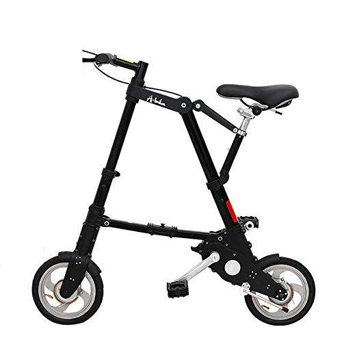 WYFDM Fahrräder, Faltrad 8/10 Zoll Aluminiumlegierung Ultra Light Mini Faltrad Einkaufen U-Bahn Reise Tragbare Tasche Unisex Cyclling,D,8inch
