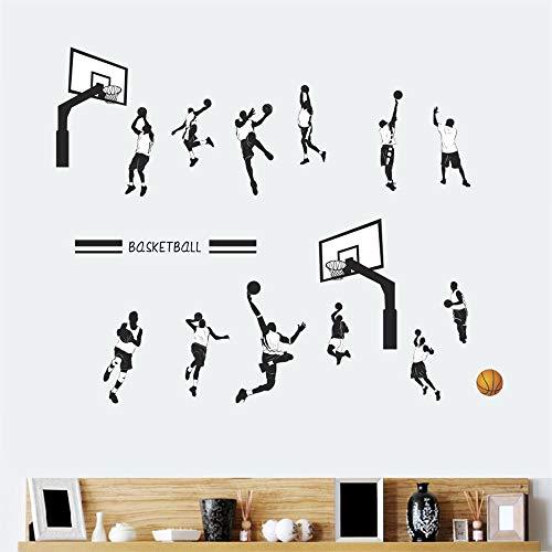ufengke Wandtattoo Basketball Wandsticker Wandaufkleber Layup Jump Shot Dunk Für Babyzimmer Kinderzimmer Junge
