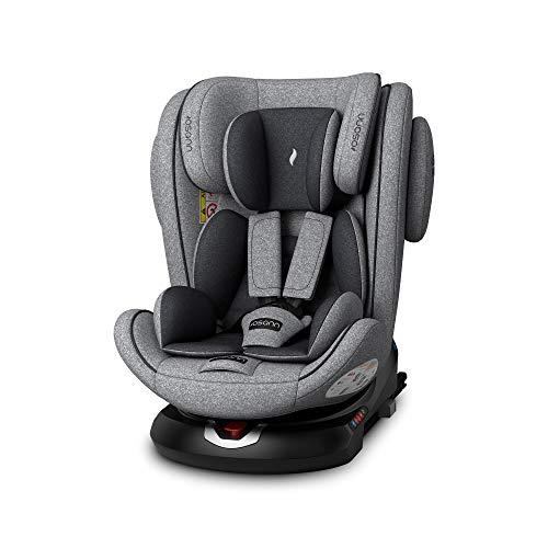 Osann ENO360° Kinderautositz Gruppe 0+/1/2/3 (0-36 Kg) Light Grey Melange