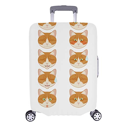 Best Luggage Cover Angry Crying Cat Sad Face Durable Washable Protecor Cover Fits 28.5 X 20.5 Inch Luggage Protective Cover Hard Cover Baggage Luggage Cover For Men