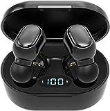 Auriculares inalámbricos Bluetooth 5.0 con caja de carga, micrófono integrado, control táctil, 40 horas de duración, sonido estéreo HD 3D para iOS y Android (B6)