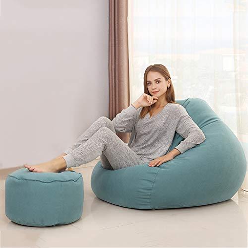 Lazy Sofa-zak, zitzak, stoel voor volwassenen, hoogwaardige, milieuvriendelijke vulling van deeltjes, woonkamer, slaapkamer A03.