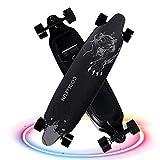 MEINE PERLE Longboard Elettrico 4 Ruote Skateboard Intelligente e-Board Scooter Elettrico con Telecomando 36V 6.6Ah(Nero)