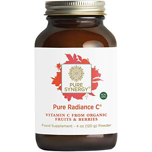 Pure Synergy Pure Radiance C 120g (4oz) Powder, Non-GMO, Vegan, 100% Natural Vitamin C with Organic Camu Camu Extract, Immune Support, Vegan, Gluten Free