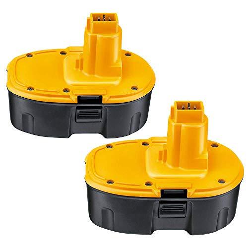 2X Powayup Reemplazo para DeWalt 18V 3.0Ah NI-MH Taladro Batería DE9503 DC9096 DE9039 DE9095 DE9096 DW9095 DW9096 DW9098