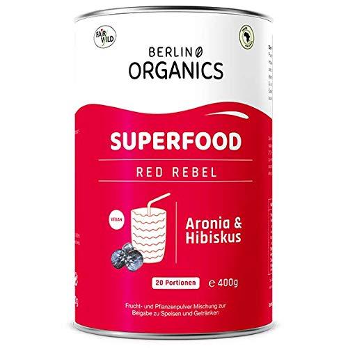 Red Rebel - Bio Superfood Pulvermischung rot - Berlin Organics - Rote Beete - Hibiskus - Aronia - Acerola Pulver - Rotes Superfood Smoothie Pulver