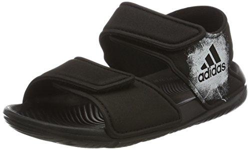 adidas AltaSwim C, Sandali con Cinturino alla Caviglia Unisex – Bambini, Nero (Core Black/Ftwr White/Core Black), 31 EU
