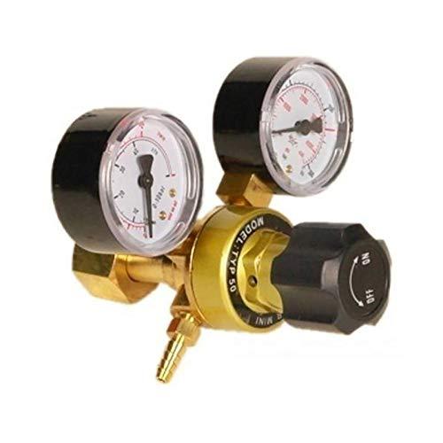TANGIST Argón CO2 Botella de gasolina de soldadura de soldadura Accesorios Reguladores de presión de latón Mini TIG Inicio Gas Botella Regulador de presión