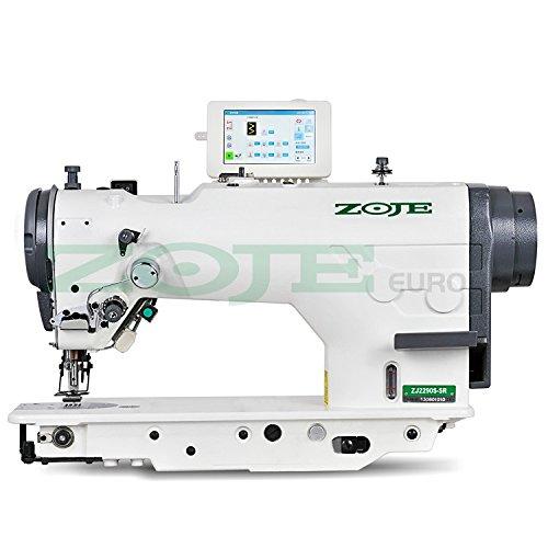 ZOJE Máquina de coser industrial – Zigzag y punto recto – completamente automática – Máquina de coser industrial – completa (con mesa y estructura)