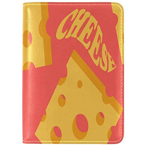 Passport Cover Case Cheese Delicious Sauce Handbemalter Passhalter