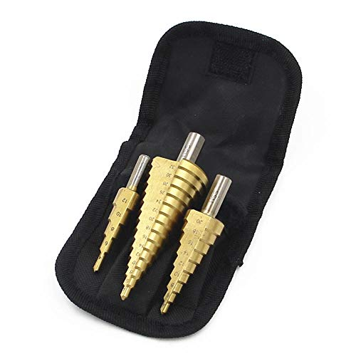 Embalaje de bolsa de nailon 6542 Brocas escalonadas 4-32 mm