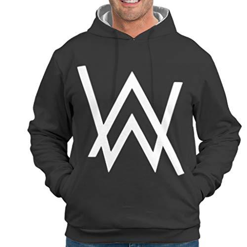 YxueSond Mens Classics Hoodie Kapuzenpullover Alan Walker Training Pullover Für Frauen White 3XL