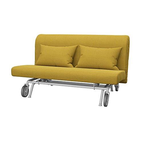 Soferia Fodera di Ricambio per Ikea PS Divano Letto a 2 posti, Tela Elegance Dark Yellow, Giallo