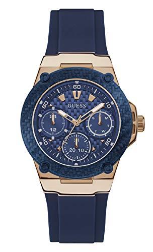 GUESS Zena Damen-Armbanduhr 39mm Armband Kautschuk Blau Quarz Analog W1094L2