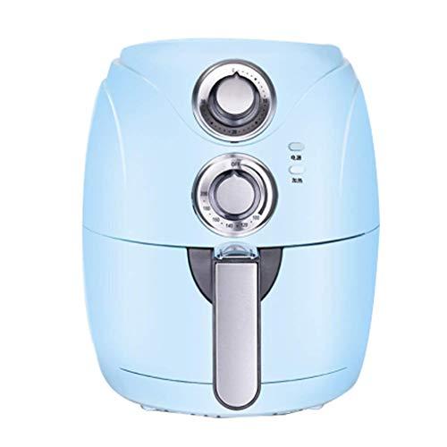 DZX Freidora de Aire con Control de Temperatura, freidora de Aire multifunción para el hogar, 2.5L, Gran Capacidad, sin Aceite, Baja en Grasa, máquina para Papas Fritas, Exquisita (Color: Azul)